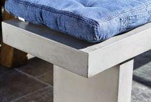 cuscini in jeans