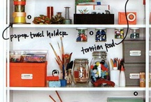 Craft room organization / by Jill Gorgei