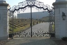 Wrought Iron Gates /  Forged gate in the Baroque style   www.kowartpodhale.com