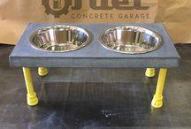 concrete furniture and accessories / Creative concrete, steel, and wood furniture and accessories.