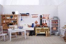 Puppenstube & Puppenhaus / Handgemachte Puppenstuben und Miniaturen