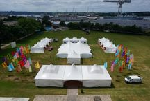 Summer Ball / We were asked to create a festival event for the officers ball at HMS Drake in Plymouth. Using all 3 styles of marquee - Poleadion, Matrix and Trapeze this is what we did!