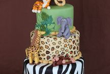 birthday cakes jungle-safari