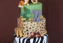 birthday cakes jungle-safari