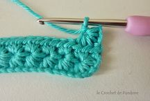 Point au crochet et tricot