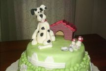 Cake with dog