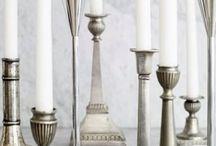 kaarsen en kaarsenhouders / by Anny Pereboom
