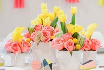 coral yellow and black inspiration