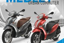 Piaggio Medley: urban commuter / Elegant and refined or sporty and dynamic?  Choose the new #PiaggioMedley best suited for you.  For more info visit the site: http://bit.ly/PiaggioMedley