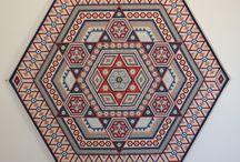 Zeshoek quilt