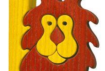 Wooden puzzle letter