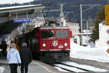 davos / davos ligt in canton graubunden in zwitserland