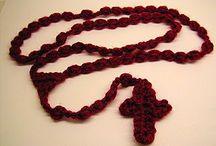 Rosary and Cross crochet