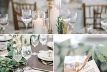 Jade & Andrew : Mediterranean Dream / Touches of grey, green and white