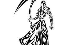 muerte tribal con guadaña