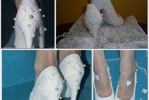 ślubne/wedding / embellished shoes