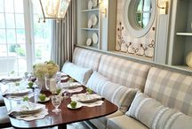 Banquettes & Window Seats / Window Seats and Banquette Inspiration for Noir Blanc Interiors New Projects.