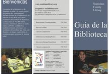 Library Brochures in Spanish / Brochures, flyers, and other marketing materials created by libraries, in Spanish. / by REFORMA