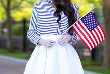 Red, White & Blue OOTDs