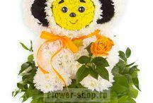 bichinhos feitos de flores