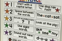 Writing / Kindergarten writing activities, including worksheets,   ideas for a writing center, chalk talk, lessons, workshop, rubric, journals, letters, anchor charts, sentences, ideas for beginning of the year, and more.