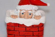 Polymer Clay  / Handmade Christmas Ornaments and Decor
