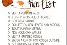 Fall To-Do List
