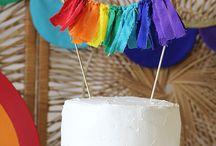 Rainbow Party / rainbow birthday, baby shower, party ideas