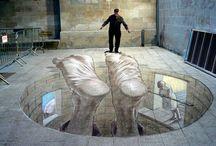 3 D street art illusions