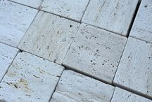 Travertine / A collection of Travertine stone tiles, pavers, pool copping and trims.