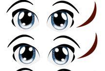 cartoon facial features