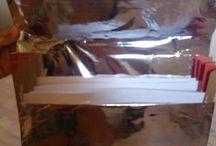 pasta metalizada feita com cartolina e papel cartão