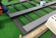 La réalisation d'une terrasse en bois / Le vendredi 22 mars, nous avons proposé 3 types de solutions pour la pose d'une terrasse en bois  : La pose sur lambourde, la pose sur parpaing et la pose sur plot, avec de lame composite ou bois