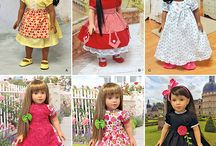"DOLL patterns and sewing for 18"" and more / patterns for any doll or vintage / by Julie Strnad"