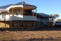Under Construction: Bourke, NSW / Garth Chapman Queenslander currently under construction in Bourke, NSW.