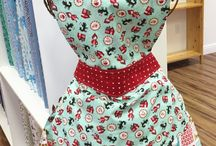 Apron Love / Sewing aprons is so much fun!  And they're so cute!