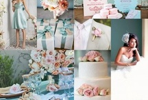 blue and cream wedding