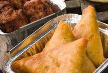 Samoussas au poulet et curry