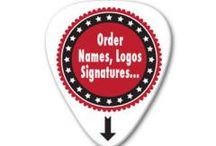 Custom Printed Guitar Picks / We do custom printing on Guitar Picks with Shop Logos, Bands, Events from single colour print to to full photographic quality.