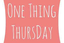 One Thing Thursday / You choose: What is the one thing that you want to learn better? What is the one thing you are very confident about? This is a way to share your needs and strengths with the CWA community. If you post on twitter or instagram, use the #1thingthursday