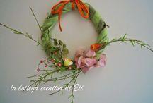 la bottega creativa di Eli --Ghirlande e Fuoriporta / creazioni dal mio blog http://labottegacreativadieli.blogspot.it/
