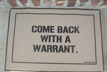 Funny Doormats / I came across these funny doormats and I just had to share...