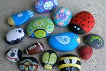 Stenen: Beschilderen / Leuke ideeën voor het schilderen van steentjes