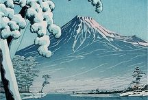 "Kawase Hasui / (1883 – 1957) Japanese artist. He was one of the most prominent print designers of the shin-hanga (""new prints"") movement. From youth Hasui dreamed of an art career, but his parents had him take on the family business. Its bankruptcy when he was 26 freed him to pursue art. He approached Kiyokata Kaburagi to teach him, but Kaburagi instead encouraged him to study Western-style painting, which he did for two years. Two years later he again applied and was accepted."