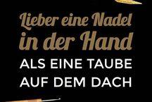 Sprüche - Claims / addi Sprüche zum Thema Handarbeiten - addi claims about crafting