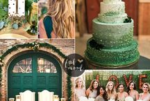 2017 Wedding Colour of the Year: Green / Pantone's colour of the year is Greenery. Symbolic of new beginnings, it is a popular colour for weddings where a rustic touch helps to create the ultimate chic wedding decor.