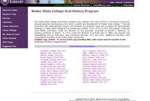 History of WSU / Collections of the history of Weber State University / by Stewart Library