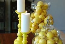 Twist of Lemon / Yellow Decor  Add a bright yellow to make you feel happy!