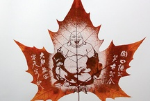 Leaf art and carving / Leaf art is one of the newest art forms in recent years. It's inspiration comes from the beauty of nature. Selective leaves are carefully chosen from the Chinar tree which is native to India, Pakistan and China. Chinar tree leaves closely resemblance the leaf of a Maple tree. 