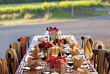 Sitting down to dine. / Creating a beautiful table/setting.